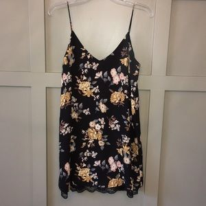 Forever 21 Floral and Lace Slip Dress Small